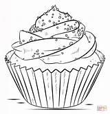 Cupcake Colorare Disegni Coloring sketch template