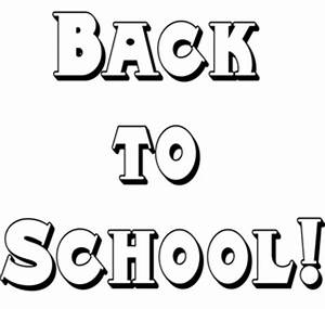 Welcome Back To School Clip Art Black And White - ClipArt Best