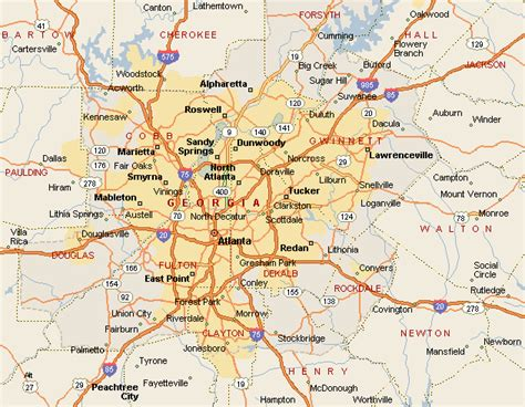 map  atlanta travelsmapscom
