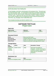 software test plan template in word and pdf formats With software test plan template word