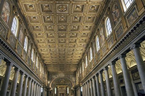 Goldene Decke Von Santa Maria Maggiore, Rom Stockbild