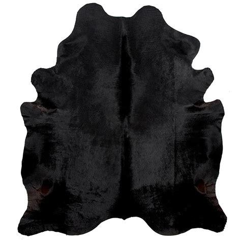 Black Cowhide black cowhide rug fur home