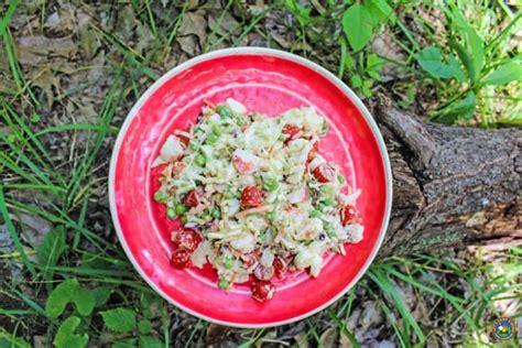 easy crab salad recipe  great  camping  potlucks
