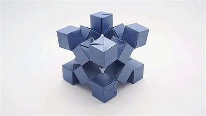 Origami Cubes Jo Paper Modular Shape Nakashima