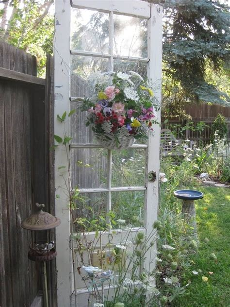 deco shabby chic pas cher door as garden decoration pictures photos and images for and