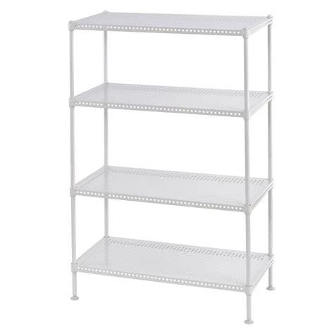 garage shelving unit edsal 35 in h x 24 in w x 12 in d 4 shelf perforated