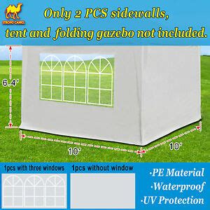tent sidewalls  pop  canopy outdoor side panels wwindow  ebay