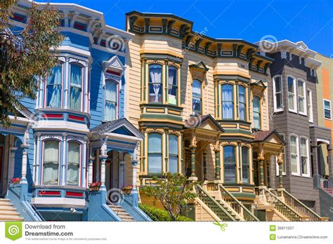 San Francisco Victorian Houses In Pacific Heights