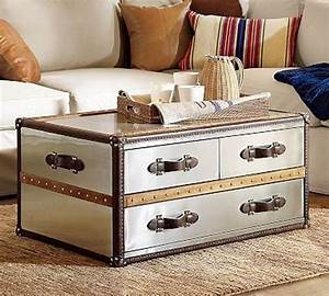Steamer trunk coffee table roselawnlutheran for Using a trunk as a coffee table
