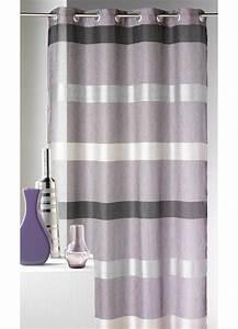 Kit Rayure Vitrage : voilage rayures horizontales design figue achat ~ Premium-room.com Idées de Décoration