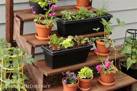 Diy Staircase Plant Stand-empress Of Dirt