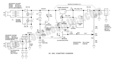 36v Battery Indicator Wiring Diagram by 24v To 36v Battery Charger Circuit