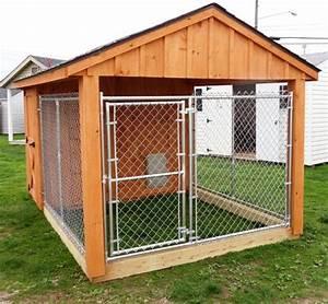 Amish built garages garden sheds utility buildings for Amish dog kennel plans