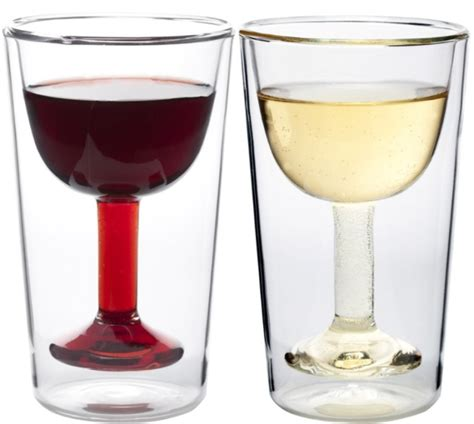 goblets wine insulated glasses deep glass spill similar tumblers glassware double drinking stemware gadgetsmatrix arrow