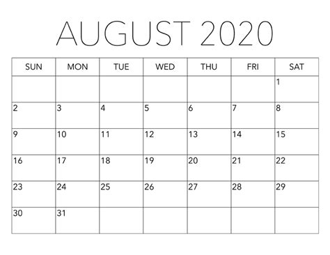 august  calendar set schedule work  home