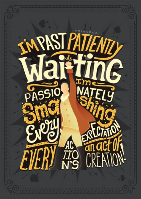 hand lettered posters turn hamilton lyrics into works of art boing boing