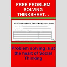 37 Best Free Thinksheets & Worksheets Images On Pinterest  Social Thinking, Social Skills And