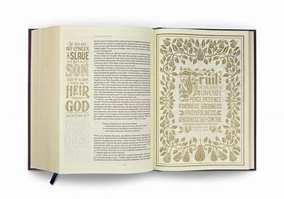 Esv Journaling Illuminated Bible Edition Eggplant Cloth