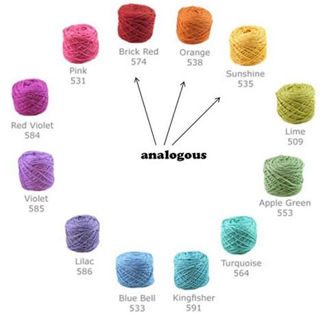 colors that go together analogous color scheme on wheel color theory 101 selecting yarns that go together from