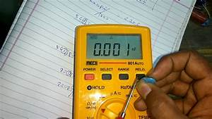 How To Check The Capacitor Using Digital Multimeter