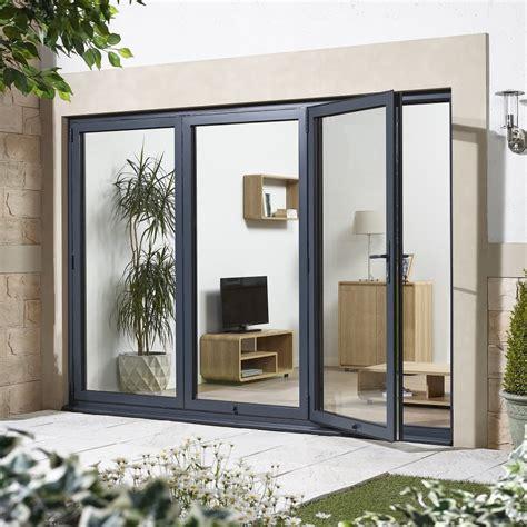 8 ft patio door external folding sliding pre finished aluminium exterior 3945