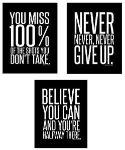 motivational inspirational famous quote wall art posters