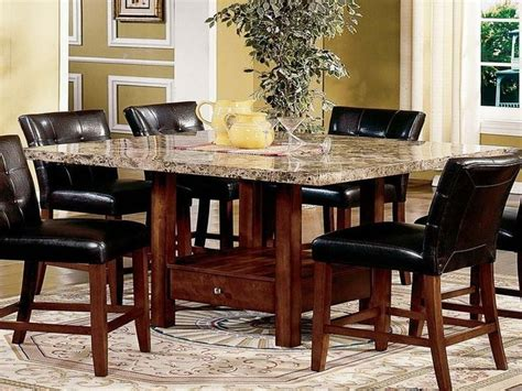 high marble kitchen table modern dining room sets granite top dining table storage