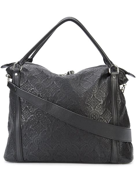 lyst louis vuitton monogram hobo tote  black
