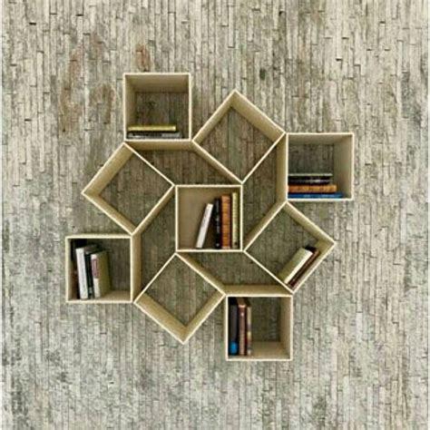 desain rak dinding minimalis modern  kayu  tempel