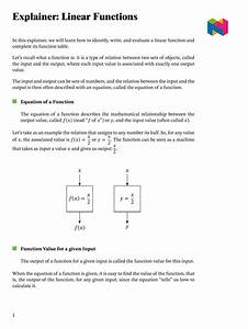 Lesson  Linear Functions