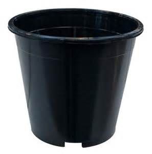 Black Plastic Plant Pots