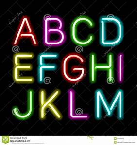 neon light font download neon glow alphabet With glow stick letters