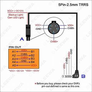 Leewa 10m 2 5mm Trrs Jack Connector To 5pin Video