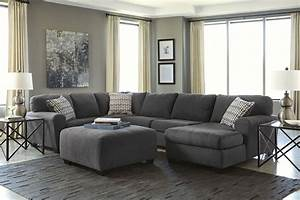 Sorenton slate raf sectional from ashley 2860017 for L sectionals couch ashley furniture