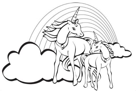 rainbow coloring pages jpg ai illustrator   premium templates