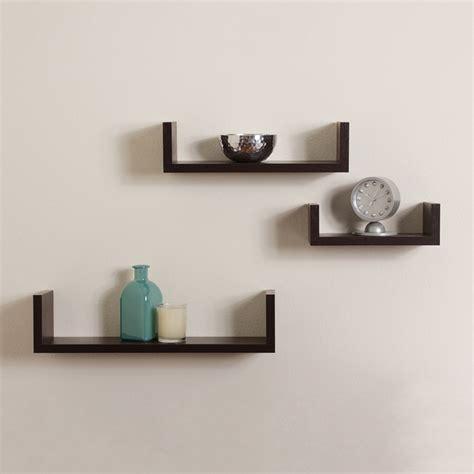 Kitchen Ideas For White Cabinets - elegant floating shelves u walnut brown finish set of 3 shelf modern home decor ebay