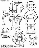Dress Coloring Pages Clothes Boys Colorings sketch template