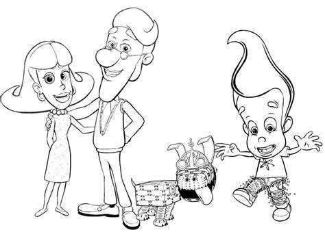 The Adventures Of Jimmy Neutron Coloring Pages