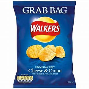 Buy Walkers Crisps Grab Bag - Cheese & Onion 50g x 32 for ...