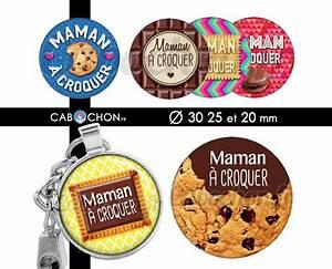 Ronde A Croquer : maman croquer 45 images digitales rondes 30 25 et 20 mm mere gateau macaron biscuit chocolat ~ Nature-et-papiers.com Idées de Décoration