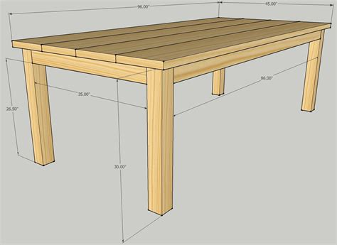 simple table design build patio table plans