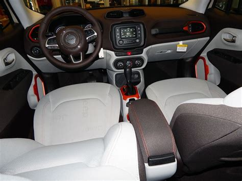 gray jeep renegade interior beautiful interior styling in the 2015 jeep renegade
