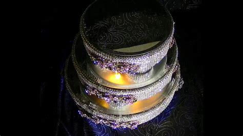 diy three tier lighted rotating wedding cake stand diy