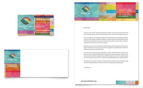 humanitarian aid organization business card letterhead