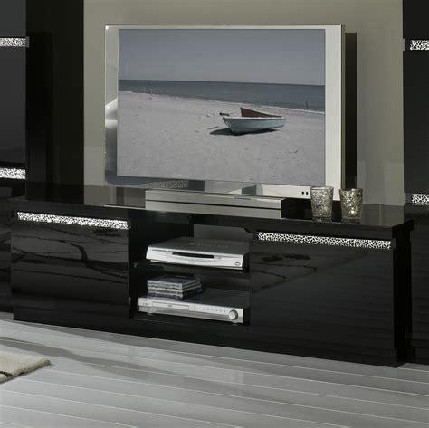 meuble tv design laqu 233 noir melvine meubles tv hifi vid 233 o soldes salon promos