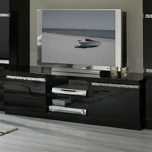 emejing salon noir laque photos awesome interior home With meuble noir