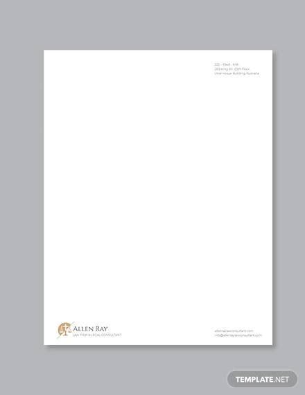 sample legal letterhead templates  illustrator