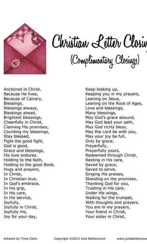 christian letter closing inspirational scripture quotes