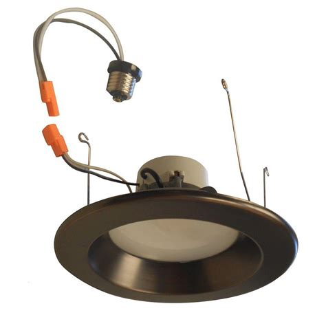 envirolite 6 in recessed led ceiling light with bronze