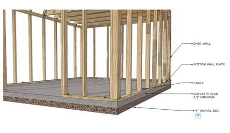 concrete shed foundation shed floor